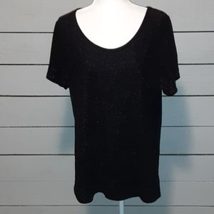 LuLaRoe black dress blouse 0026